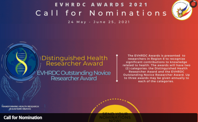 EVHRDC Awards: CALL FOR NOMINATIONS