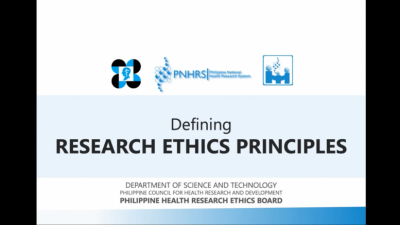 Philippine Research Ethics Board conducts Basic Research Ethics Training for CHRDC members