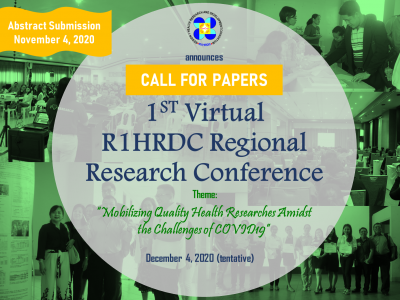 R1HRDC 1st Virtual Regional Health Research Conference
