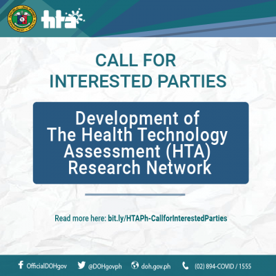 Call for Interested Parties: Development of the Health Technology Assessment (HTA) research network
